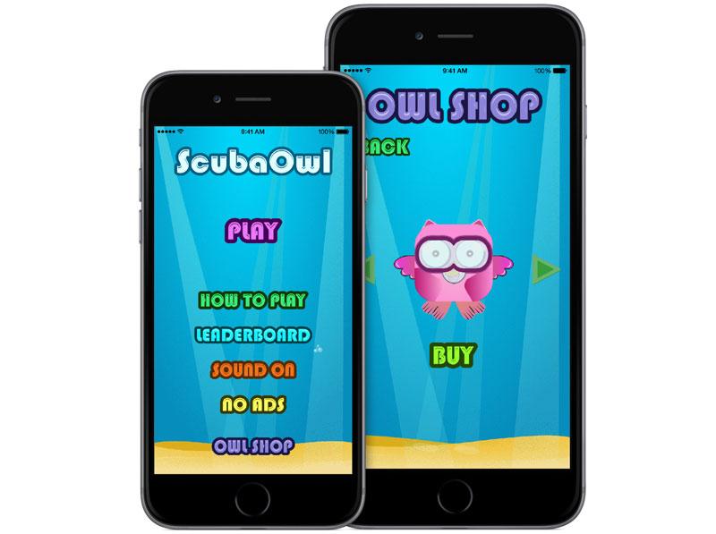 ScubaOwl iOS Spill Stor - Birks