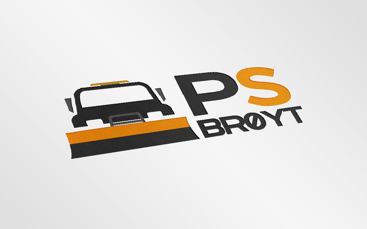 PS Brøyt logo mockup 2